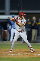 Mateo Gil (23) of the Johnson City Cardinals at bat against the Burlington Royals at Burlington Athletic Stadium on September 3, 2019 in Burlington, North Carolina. The Cardinals defeated the Royals 7-2 to even Appalachian League Championship series at one game a piece. (Brian Westerholt/Four Seam Images)