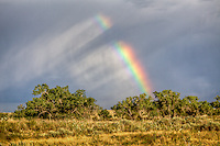 A rainbow over the open prairie on the Cimarron National Grassland in Western Kansas.