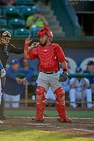 Mario Sanjur (30) of the Orem Owlz on defense against the Ogden Raptors at Lindquist Field on June 22, 2019 in Ogden, Utah. The Owlz defeated the Raptors 7-4. (Stephen Smith/Four Seam Images)