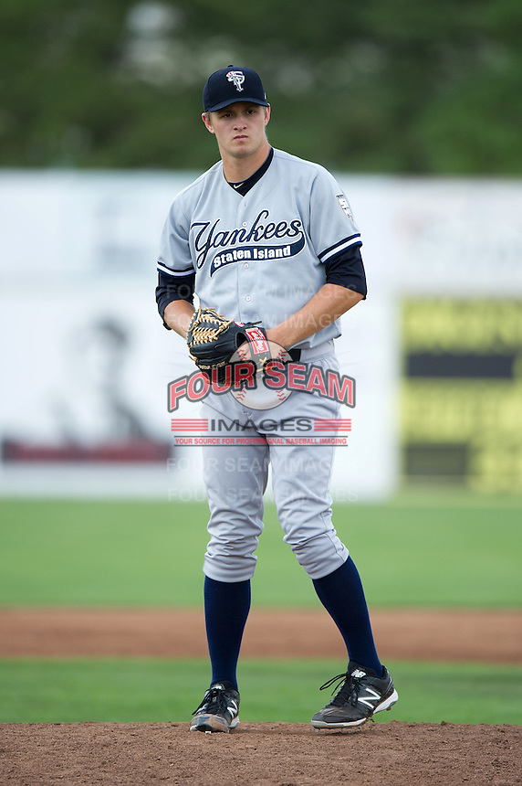Staten Island Yankees Andrew Benak #34 during a game against the Batavia Muckdogs at Dwyer Stadium on July 29, 2012 in Batavia, New York.  Batavia defeated Staten Island 10-2.  (Mike Janes/Four Seam Images)