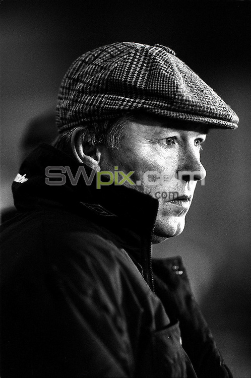 Pix:Michael Steele/SWpix...Soccer. Manchester United, Old Trafford...COPYRIGHT PICTURE>>SIMON WILKINSON..Manchester United's Manager Alex Ferguson.