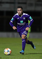 20191125 - WOLVERTEM: Anderlecht's Anouar Art El Hadj is with the ball during the Belgian Elite U21 league football match between RSC Anderlecht U21 and KV Mechelen U21 on Monday 25th of November 2019 at F. Lathouwersstadion, Wolvertem Belgium. PHOTO: SEVIL OKTEM | SPORTPIX.BE