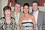 HALL OF FAME: Ted Fitzgerald who was presented with the Hall of Fame at the John Mitchels GAA Social,John Joe Sheehy Road, Tralee. with Ted were: Catherine Fitzgerald, Eve and John Fitzgerald.on Saturday night..    Copyright Kerry's Eye 2008