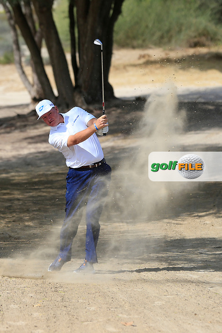 Ernie Els (RSA) on the 3rd during Round 3 of the Omega Dubai Desert Classic, Emirates Golf Club, Dubai,  United Arab Emirates. 26/01/2019<br /> Picture: Golffile | Thos Caffrey<br /> <br /> <br /> All photo usage must carry mandatory copyright credit (&copy; Golffile | Thos Caffrey)