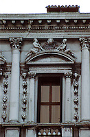 Venice:  Piazza San Marco--detail -Procuratie Nuove.  Photo '83.