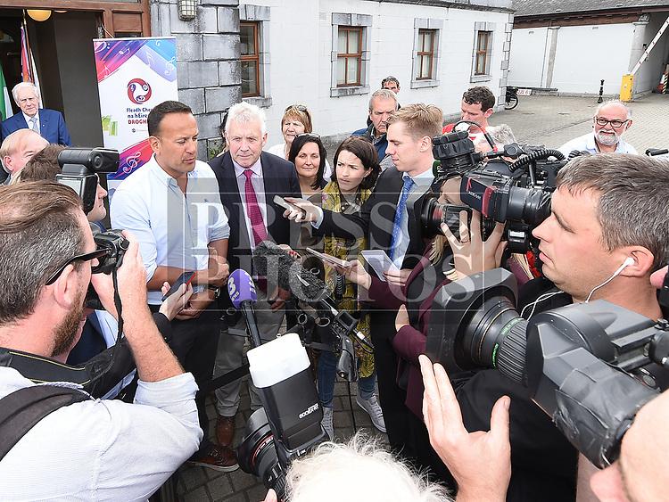 An Taoiseach leo Varadkar speaks to the press at Fleadh Ceoil na hEireann. Photo:Colin Bell/pressphotos.ie