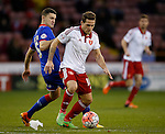 James Wilson of Oldham Athletic turned by Billy Sharp of Sheffield Utd - FA Cup Second round - Sheffield Utd vs Oldham Athletic - Bramall Lane Stadium - Sheffield - England - 5th December 2015 - Picture Simon Bellis/Sportimage