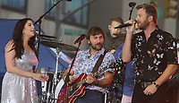 NEW YORK, NY - JULY 6:  Hillary Scott, Dave Haywood,Charles Kelley of Lady Antebellum perform at Citi Concert Series on NBC's Today Show  at Rockefeller Center in New York City on July 06, 2018. <br /> CAP/MPI/RW<br /> &copy;RW/MPI/Capital Pictures