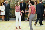 Spanish Queen Letizia during the audience with the  executive board national spanish assoccition against cancer (AECC) at Zarzuela Palace in Madrid. September 08, 2016. (ALTERPHOTOS/Rodrigo Jimenez)