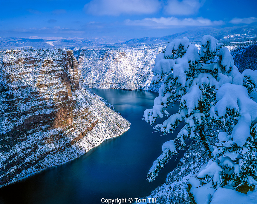 Snow at Red Canyon, Flaming Gorge National Recreation Area, Utah,  Green River, Ashley National Forest