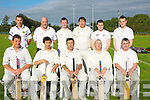 BATSMEN: On a fine evening at McDowd Park,Tralee NK Cricket team played Killarney in the 20/20 League on Thursday,Front l-r: Paul Finch, Michael and Garry Picket (Capt), Richie Rutland and Tony O'Connor. Back l-r: Matt Barron, Paul Swine, Nicky Dowd, Matthew Pickett,Ryan and Danny Warwick.