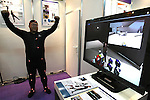 June 24, 2010 - Tokyo, Japan - An employee of Nihon Binary demonstrates Phase Space Motion Capture, a motion capture solution, at the 3D and Virtual Reality Expo in Tokyo, Japan, on June 24, 2010. The Japan's largest 3D and virtual reality expo runs from June 23-25 and gives to nearly 1'680 companies to showcase in Tokyo Big Sight 3D cameras and monitors, robots, software, sound systems, scanners, simulators and other products related to 3D and virtual reality.