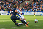 30th September 2017, The John Smiths Stadium, Huddersfield, England; EPL Premier League football, Huddersfield Town versus Tottenham Hotspur; Harry Kane of Tottenham Hotspur FC tries to cross the ball but goes out