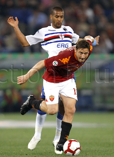 25th April 2010: Francesco Totti and in game action during the match for the Italian Serie A Soccer Roma v.Sampdoria at the Olympic Satadium Rome,
