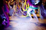 A parade of revelers dressed in traditional Zapotec garb celebrate Dias de los Muertos in Oaxaca, Mexico Nov. 1, 2010.