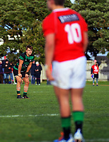 Action from the Swindale Shield Wellington premier men's club rugby union match between Marist St Pat's and Wainuiomata at Evan's Bay Park in Wellington, New Zealand on Saturday, 4 July 2020. Photo: Dave Lintott / lintottphoto.co.nz