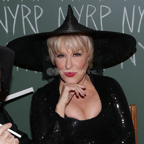 """NEW YORK, NY - OCTOBER 31 : Singer and Actress Bette Midler arrives for the New York Restoration Project's 19th Annual Hulaween Gala """"FELLINI HULAWEENI"""" held at the Waldorf Astoria on October 31, 2014 in New York City.  (Photo by Brent N. Clarke / MediaPunch)"""