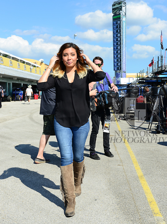 HOMESTEAD, FL - NOVEMBER 14: Country singer Arabella Jones attends the 2014 Ford Championship Weekend at Homestead-Miami Speedway on Friday November 14, 2014 in Homestead, Florida. (Photo by Johnny Louis/jlnphotography.com)