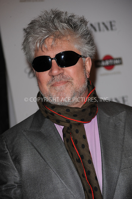 WWW.ACEPIXS.COM . . . . . ....December 15 2009,  New York City....Director Pedro Almodovar arriving at the New York premiere of 'Nine' at the Ziegfeld Theatre on December 15 2009 in New York City....Please byline: KRISTIN CALLAHAN - ACEPIXS.COM.. . . . . . ..Ace Pictures, Inc:  ..(212) 243-8787 or (646) 679 0430..e-mail: picturedesk@acepixs.com..web: http://www.acepixs.com