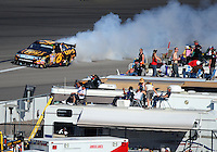 Mar. 1, 2009; Las Vegas, NV, USA; NASCAR Sprint Cup Series driver David Ragan blows his engine during the Shelby 427 at Las Vegas Motor Speedway. Mandatory Credit: Mark J. Rebilas-