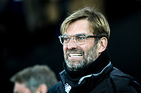 Liverpool Manager Jurgen Klopp ahead of the Premier League match between Swansea City and Liverpool at the Liberty Stadium, Swansea, Wales on 22 January 2018. Photo by Mark Hawkins / PRiME Media Images.
