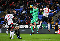 Bolton Wanderers' Craig Noone competing with Reading's goalkeeper Emiliano Martinez  <br /> <br /> Photographer Andrew Kearns/CameraSport<br /> <br /> The EFL Sky Bet Championship - Bolton Wanderers v Reading - Tuesday 29th January 2019 - University of Bolton Stadium - Bolton<br /> <br /> World Copyright © 2019 CameraSport. All rights reserved. 43 Linden Ave. Countesthorpe. Leicester. England. LE8 5PG - Tel: +44 (0) 116 277 4147 - admin@camerasport.com - www.camerasport.com
