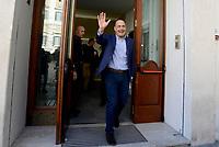 Roma, 28 Febbraio 2019<br /> Primarie PD<br /> Nicola Zingaretti, candidato alla segreteria del Partito Democratico esce dalla sede di SKY al termine del  confronto in diretta .<br /> Domenica 3 Marzo gli  iscritti al Partito democratico voteranno alle elezioni Primarie per scegliere il Segretario