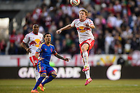 Dax McCarty (11) of the New York Red Bulls. The New York Red Bulls and the Colorado Rapids played to a 1-1 tie during a Major League Soccer (MLS) match at Red Bull Arena in Harrison, NJ, on March 15, 2014.