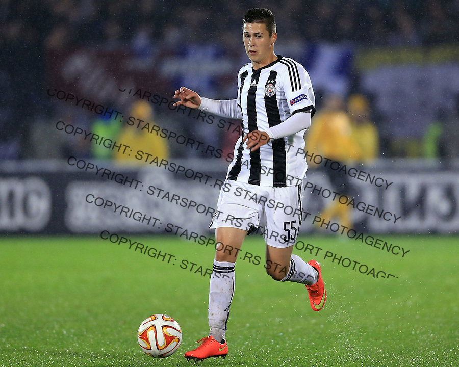 Fudbal Football Soocer<br /> UEFA Europe League <br /> Partizan v Besiktas<br /> Danilo Pantic<br /> Beograd, 23.09.2014.<br /> foto: Srdjan Stevanovic/Starsportphoto&copy;