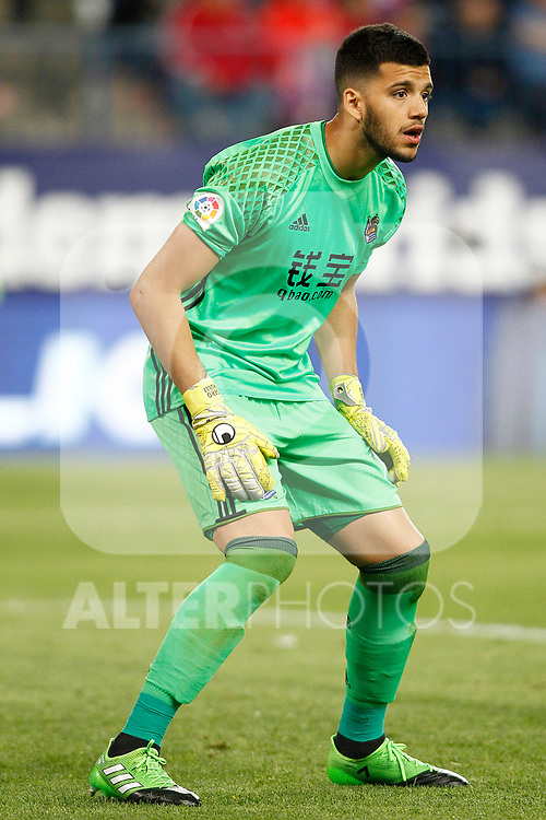 Real Sociedad's Geronimo Rulli during La Liga match. April 4,2017. (ALTERPHOTOS/Acero)