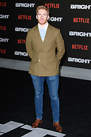 Neil Jones at the European premiere for &quot;Bright&quot; European premiere at the BFI South Bank, London, UK. <br /> 15 December  2017<br /> Picture: Steve Vas/Featureflash/SilverHub 0208 004 5359 sales@silverhubmedia.com