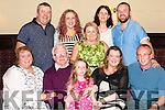 After working 30 years with Aughinish Alumina. Joe Kelly from Templeglantine  celebrated his retirement  last saturday night with family &amp; friends at the Devon Inn Hotel. Pic. Joe with his family.<br /> L-R Joe's wife Geraldine, Joe Kelly, granddaughter Eabha O' Connor, Daughter Mary Kelly,  Son in Law Moss O' Connor.<br /> Back: Son Denis Kelly,  daughter Theresa Kelly,  cousin Josie Stack, <br /> daughter in law Lesley Ann kelly  &amp;  son Joseph Kelly.