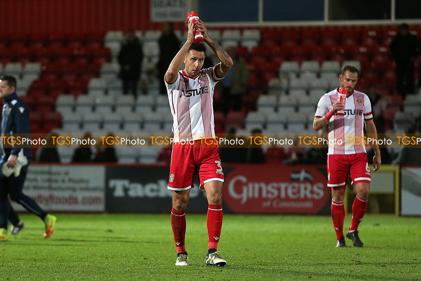 Joe Martin of Stevenage celebrates victory during Stevenage vs Nantwich Town, Emirates FA Cup Football at the Lamex Stadium on 4th November 2017