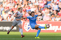 Bridgeview, IL - Sunday September 03, 2017: Sofia Huerta during a regular season National Women's Soccer League (NWSL) match between the Chicago Red Stars and the North Carolina Courage at Toyota Park. The Red Stars won 2-1.