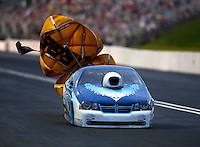 Jun 20, 2015; Bristol, TN, USA; NHRA pro stock driver Alan Prusiensky during qualifying for the Thunder Valley Nationals at Bristol Dragway. Mandatory Credit: Mark J. Rebilas-