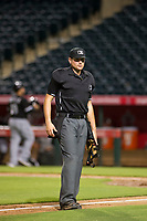 Home plate umpire Jeff Hamann during the game between the AZL White Sox and AZL Angels on August 14, 2017 at Diablo Stadium in Tempe, Arizona. AZL Angels defeated the AZL White Sox 3-2. (Zachary Lucy/Four Seam Images)