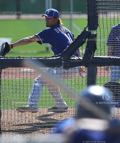 Yu Darvish (Rangers),.FEBRUARY 25, 2012 - MLB :.Texas Rangers spring training camp in Surprise, Arizona, United States. (Photo by AFLO)