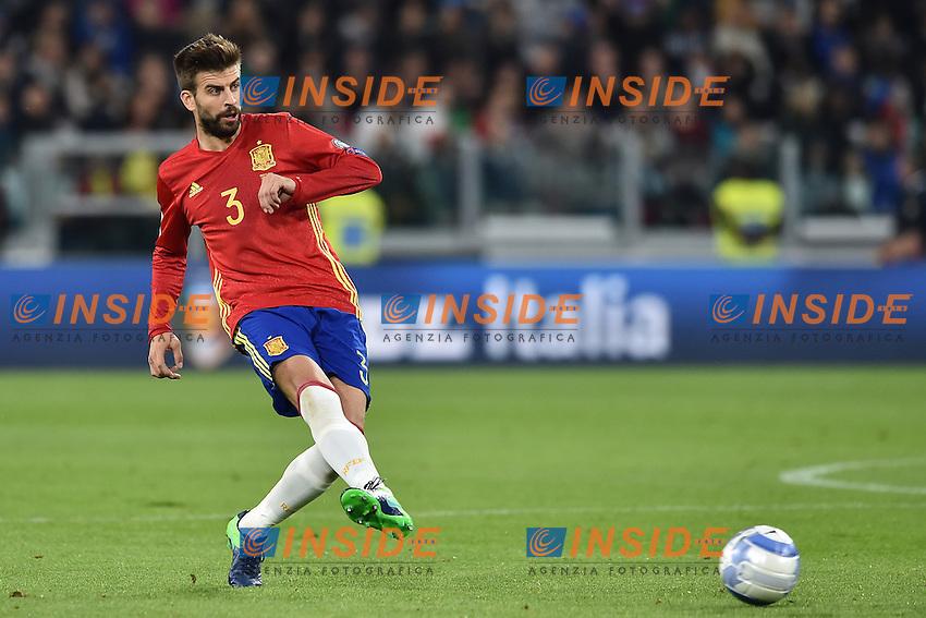 Gerard Pique' Spain <br /> Torino 06-10-2016 Juventus Stadium <br /> World Cup Qualifiers Italy - Spain / Italia - Spagna. Foto Andrea Staccioli / Insidefoto