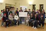 Julianstown Foróige members present cheque for EUR121.80 to Bobby McCormack of Development Perspectives...Photo NEWSFILE/Jenny Matthews.(Photo credit should read Jenny Matthews/NEWSFILE)....This Picture has been sent you under the condtions enclosed by:.Newsfile Ltd..The Studio,.Millmount Abbey,.Drogheda,.Co Meath..Ireland..Tel: +353(0)41-9871240.Fax: +353(0)41-9871260.GSM: +353(0)86-2500958.email: pictures@newsfile.ie.www.newsfile.ie.FTP: 193.120.102.198.