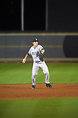 Siena Saints shortstop Rich Gilbride (5) throws to first base during a game against the UCF Knights on February 17, 2017 at UCF Baseball Complex in Orlando, Florida.  UCF defeated Siena 17-6.  (Mike Janes/Four Seam Images)