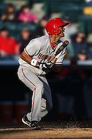 April 10, 2010:  Outfielder Michael Daniel of the Harrisburg Senators during a game at Blair County Ballpark in Altoona, PA.  Harrisburg is the Double-A Eastern League affiliate of the Washington Nationals.  Photo By Mike Janes/Four Seam Images