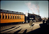 D&amp;RGW #483 K-36 with RMRRC excursion coaches. Durango - Chama.<br /> D&amp;RGW  Durango, CO  5/30/1966