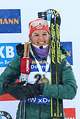 17th March 2019, Ostersund, Sweden; IBU World Championships Biathlon, day 9, mass start women; Denise Herrmann (GER) with her medal for 3rd place