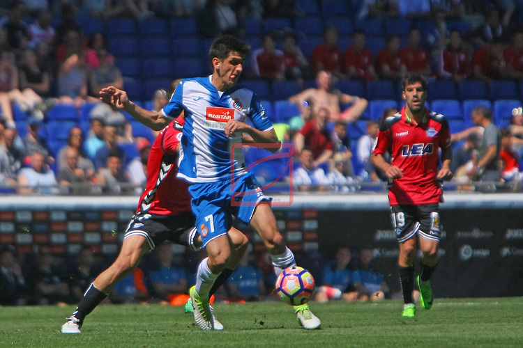 League Santander 2016/2017. Game: 31.<br /> RCD Espanyol vs Deportivo Alaves: 1-0.<br /> Gerard Moreno.