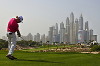 Miguel Angel Jimenez (ESP) on the 8th during Round 2 of the Omega Dubai Desert Classic, Emirates Golf Club, Dubai,  United Arab Emirates. 25/01/2019<br /> Picture: Golffile | Thos Caffrey<br /> <br /> <br /> All photo usage must carry mandatory copyright credit (© Golffile | Thos Caffrey)