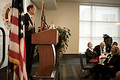 January 26, 2009. Raleigh, NC.. Raleigh mayor, Charles Meeker gave his annual State of the City address to an assembles lunch crowd at an event sponsored by the Raleigh Rotary Club at the new Raleigh Convention Center.. Meeker gave a 15 minute speech outlining the plans for the city and the difficulties ahead in the down economic environment.