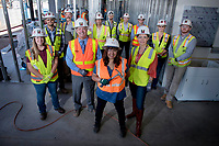 McCarthy Construction team at the new research facility they're building on ASU Tempe Campus.