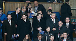 Norman Crighton, James Easdale, Snady Easdale, Graham Wallace and David Somers in the directors box