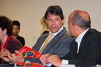 """SÃO PAULO -SP-22,10,2014-CERIMÔNIA DE ABERTURA DE SEMINÁRIO """"MARCO REGULATÓRIO DAS ORGANIZAÇÕES DA SOCIEDADE CIVIL""""-O Prefeito do Município de São Paulo,Fernando Haddad durante a Cerimônia de Abertura do Seminário """"Marco Regulatório das Organizações da Sociedade Civil""""-Local: Hotel Jaraguá –Região central da cidade de São Paulo,no fim da manhã dessa Quarta-Feira,22(Foto:Kevin David/Brazil Photo Press)"""