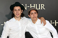 "HOLLYWOOD, CA - AUGUST 16: David Henrie, Lorenzo Henrie at the LA Premiere of the Paramount Pictures and Metro-Goldwyn-Mayer Pictures title ""Ben-Hur"", at the TCL Chinese Theatre IMAX on August 16, 2016 in Hollywood, California. Credit: David Edwards/MediaPunch"